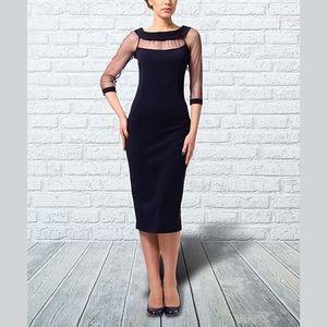 [LILA KASS] Formal Bodycon Dress Sheer